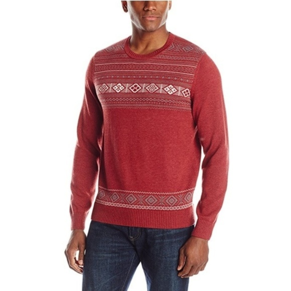 John Henry Other - NWT Men's Fair Isle Holiday Crew-Neck Sweater